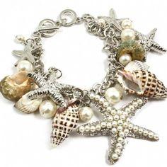 Denise's Silver Starfish & Seashell Charm Bracelet - Only $42.95 — Fantasy Jewelry Box