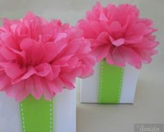 tissue paper flower box