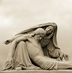 A Pieta statue