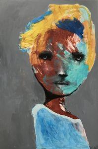 """Maleri av Kari Anne Marstein  """"Matiné"""", 150x100 maleri"""