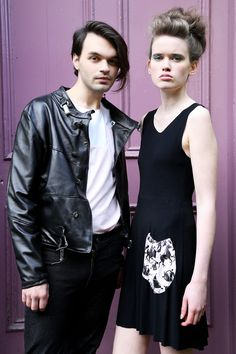 Hardwear Leather Jacket £300 Pink Pocket Tee £35 Gathered Pocket Dress £45   Models: Matthias McGregor and Nikki Vance from Superior Photographer: Daniela Flores MUA: Heather Snowie Hair: Heather Nelson