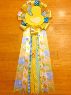 Rubber Duck Baby Shower Mum Corsage Baby By Craftycreationsbyval