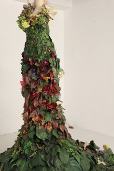 Flower Gown Installation at San Francisco Arts Institute October 2011