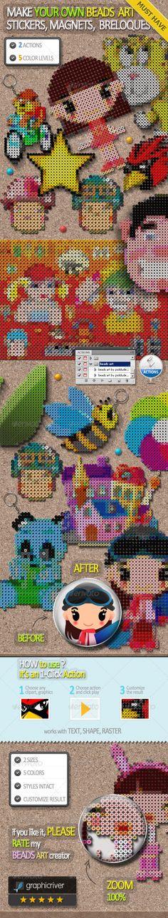 Perler Beads Art Photoshop Creator - Actions Photoshop