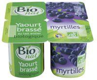 Yaourt brassé aux myrtilles Bio nat'