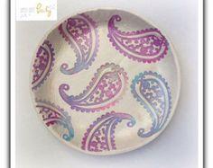 Handmade Clay Trinket Dish by SimplyQuitePeachy on Etsy