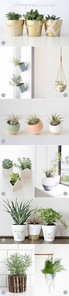 Beautiful DIY Planters are the perfect way to add plant life to your home for Spring.