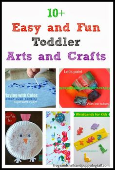 10+ Easy and Fun Toddler Arts and Crafts they love by FSPDT