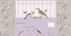 *Cute n Cool* Freebies: Birds and Butterflies backgrounds and headers for new blogger templates