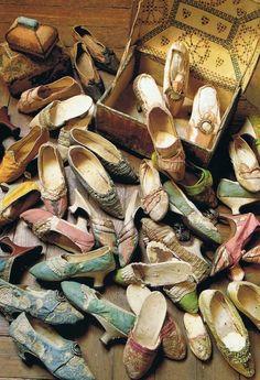 Antique shoes, Marie-Antoinette's shown here