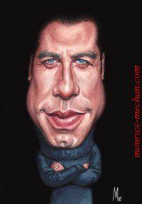 actor's caricatures | Caricatures / Comics John Travolta