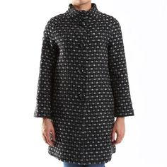 Cappotto Eks in fantasia pois bicolor - € 129,00 | Scopri tutto il meglio della collezione Eks in esclusiva su www.nico.it - #coat #fashioncoat #fashion