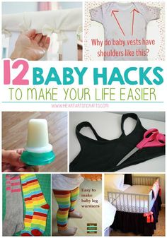 12 Genius Baby Hacks To Make Your Life Easier. Baby gate, sippy cup, and bath toy hacks Baby Outfits, Baby Giveaways, Baby Leg Warmers, Pregnancy Information, After Baby, Baby Warmer, Baby Makes, Pregnant Mom, Future Baby