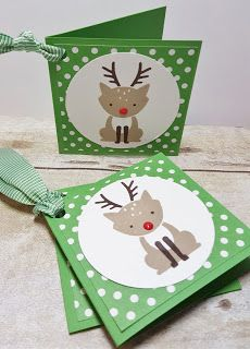 Foxy Friends by Stampin' Up! Christmas tags                                                                                                                                                     More