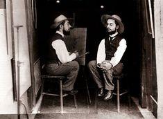 Doble retrato de Toulouse Lautrec por Maurice Guilbert, 1892