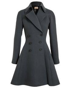 tailored wool princess coat azzedine alaïa f.w2013 browns
