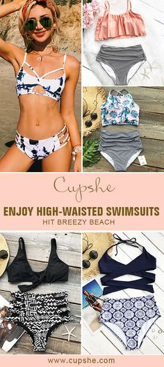 Treat Yourself Something Special! New High-waisted swimwear is certainly a staple in swimwear through out the whole summer beach season. Meet the beach scene, and you can't let the trend fade. Check them out at Cupshe.com