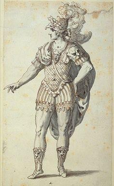 inigo jones/images | Inigo Jones's costume design for Oberon (1610).