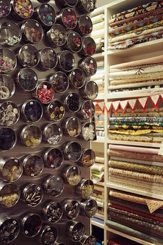 Button wall. Photo by What Katie Does, via Flickr