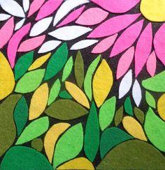 """7 Me gusta, 2 comentarios - Colectivo Cuadrilla (@colectivocuadrilla) en Instagram: """"Francisca Morales """"Pequeño Jardín"""" Mosaico en paño lenci de 20x20cm. Máfil, Chile @elenuy_artesanias"""""""