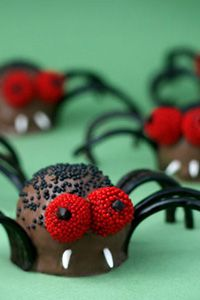 Paula Deen Creepy Crawly Brownie Spider Bites #Pintowingifts
