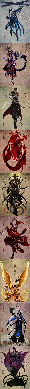 剑三各门派 好吧这是完整版的 唐门 五毒 明教 七秀 少林 天策 藏剑 纯阳 万花