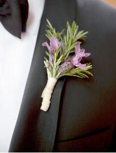 Lavender boutonniere