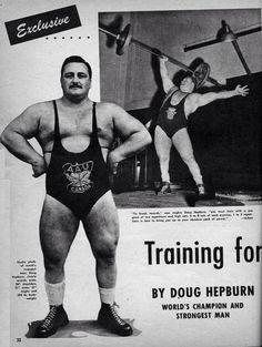 Old school strong! Doug Hepburn was a legend.