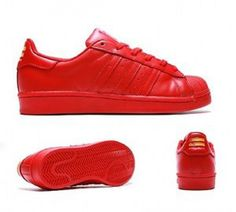 9d91f8335ac6 Adidas Superstar Pharell Williams Red Supercolor Juniors Womens Girls Shell  Toe Adidas Superstar Trainers