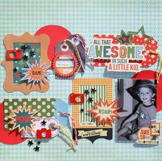All that Awesome layout by Kristin Tuttle-Greenwood using the Be Different collection by FancyPantsDesigns.com