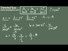 Ley de senos ejemplo 2 (dos ángulos y un lado) Decimal, Arabic Calligraphy, Math Equations, Trigonometry, Engineering, Shape, Law Of Cosines, Fractions, Finance