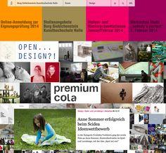 Spielmode auf der Website der Kunsthochschule Burg Giebichenstein in Halle