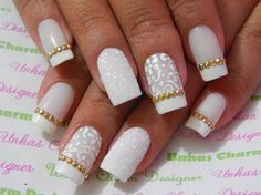 Mais de 90 Ideias para a sua Unha Decorada do Ano Novo! Diy Nail Designs, Colorful Nail Designs, Pretty Nail Art, Beautiful Nail Art, Beautiful Models, Fabulous Nails, Perfect Nails, Love Nails, Fun Nails