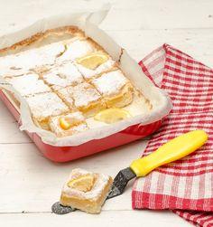 Prajitura cu lamaie si blat fraged - Retete de Suflet Romanian Desserts, Lemon Bars, Camembert Cheese, Sweet Treats, Deserts, Food, Sweets, Candy, Desserts