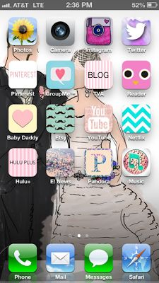 If you have an iPhone and want to make cute icons try these :)
