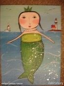 Mermaid folk art