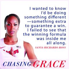 bySanya Richards-Ross If anyone thinks they are something when they are not, they deceive themselves. Each one should test their own actions. Then they can take pride in themselves alone, without comparing themselves to someone else. GALATIANS 6:3–4 I really thought they would cancel the race. I didn't realize they sold tickets and that there …