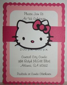 Hello Kitty Birthday Invitations Etsy.