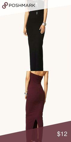 Forever 21 Black Tube Dress NWOT Forever 21 Black Tube Dress (Small) Forever 21 Dresses Maxi