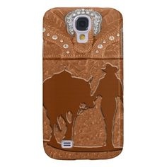 "Tooled Leather ""Cowgirl & Horse"" Western IPhone 3 Samsung Galaxy S4 Covers #Iphone3 #samsung #galaxy #horses #cowgirl"