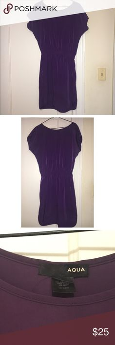 Aqua Purple dress Aqua dress from Bloomingdales. Size L but id say it would fit a M/L nicely. Aqua Dresses Midi