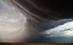 """For Camille, from San Francisco, California: """"Each storm has its own    personality. You could see 10,000 storms and each one would behave    differently. There is a feeling that if you miss one, you have missed a    unique experience.""""   Above: Inflow Bands, Chappell, Nebraska 2012"""