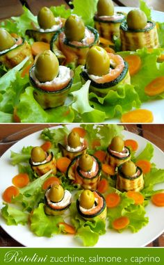 Rotolini zucchine, salmone e caprino