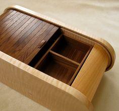 Handmade Curly Maple Black Walnut Wooden Jewelry Box, Beautiful Jewelry Box on Etsy, $564.14 CAD