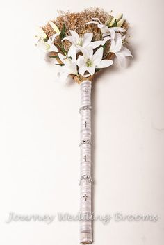 I love this broom design!! God is Love Wedding Broom BEST SELLER by JourneyWeddingBrooms, $59.95