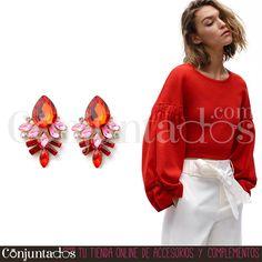Pendientes Dalia rojos ★ 9'95 € ★ Cómpralos en https://www.conjuntados.com/es/pendientes/pendientes-medianos/pendientes-dalia-de-cristales-rojos.html ★ #pendientes #earrings #conjuntados #conjuntada #joyitas #lowcost #jewelry #bisutería #bijoux #accesorios #complementos #moda #eventos #bodas #invitadaperfecta #perfectguest #fashion #fashionadicct #fashionblogger #blogger #picoftheday #outfit #estilo #style #streetstyle #spain #GustosParaTodas #ParaTodosLosGustos
