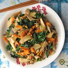 #Kale with #Oyster Mushrooms
