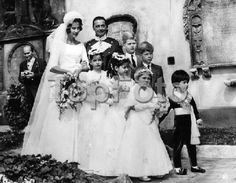 Princess Dorothea of Hesse-Kassel, 2nd child of Princess Sophie and her 1st husband, Prince Christoph of HK, on her wedding to Prince Friedrich Karl of Windisch-Graetz.  Three of her attendants are her half-siblings:  Princes Welf and Georg (the big boys on the right) and Princess Frederike (the littlest girl) of Hanover, the children of her mother's 2nd marriage to Georg Wilhelm of Hanover.
