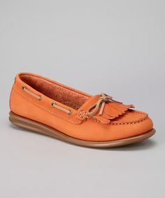 Take a look at this Orange Katia Loafer by Eric Michael by Laurevan on #zulily today!