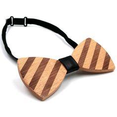 2016 New Arrival Wood Bowties Wedding Retro Style Striped Bow Tie Women Cravat Mens Bowknot Classic Gravata Noeud Papillon